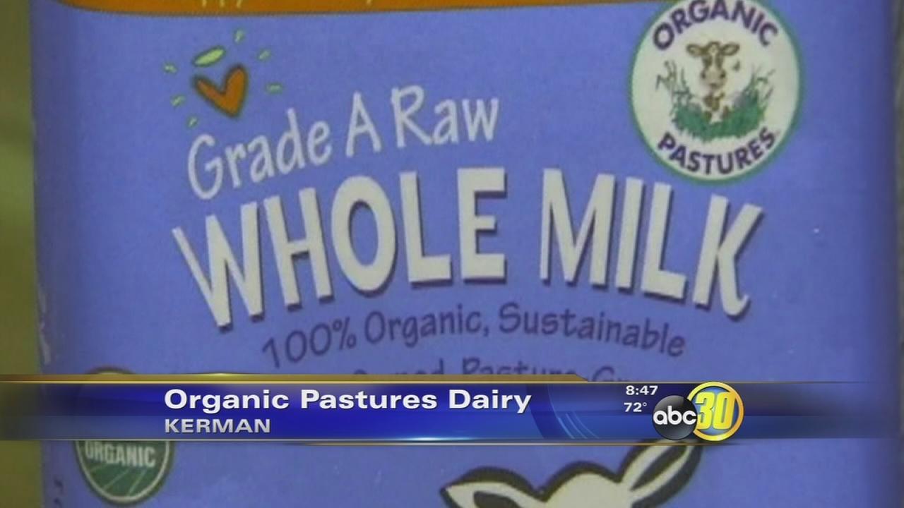 Organic Pastures Dairy recalls raw whole milk