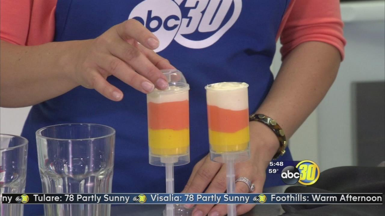 White Fudge Candy Corn Push Pops