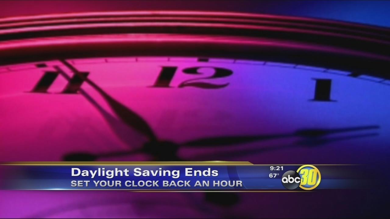 Daylight savings ends Sunday