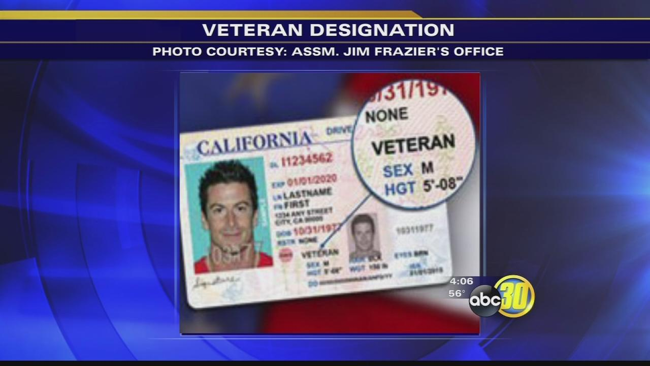 California veterans can apply for veteran designation on drivers license