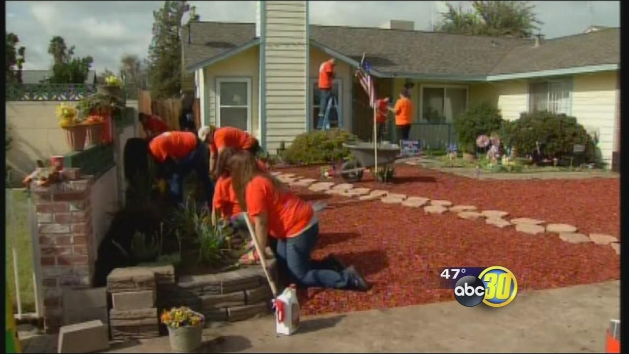 Tulare veteran, fighting lung cancer, given a yard makeover