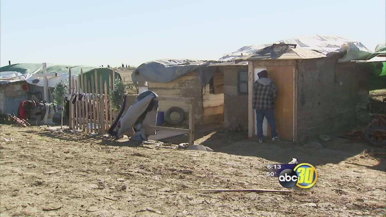 Shanty town next to AG land to be torn down
