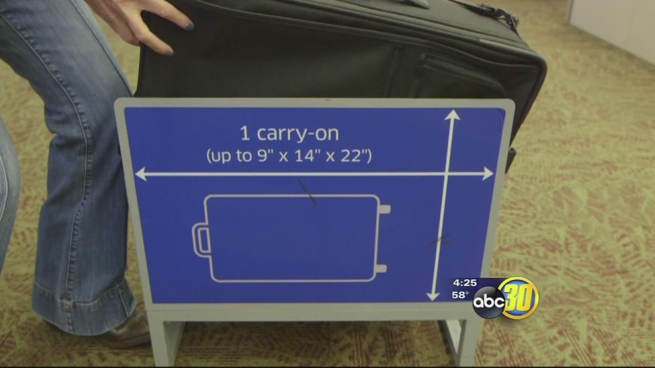 Carry-on luggage trouble