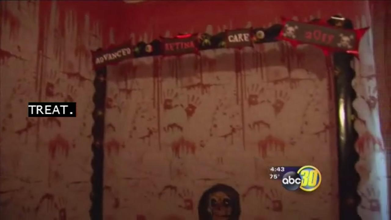 Eye doctor decorates office for Halloween