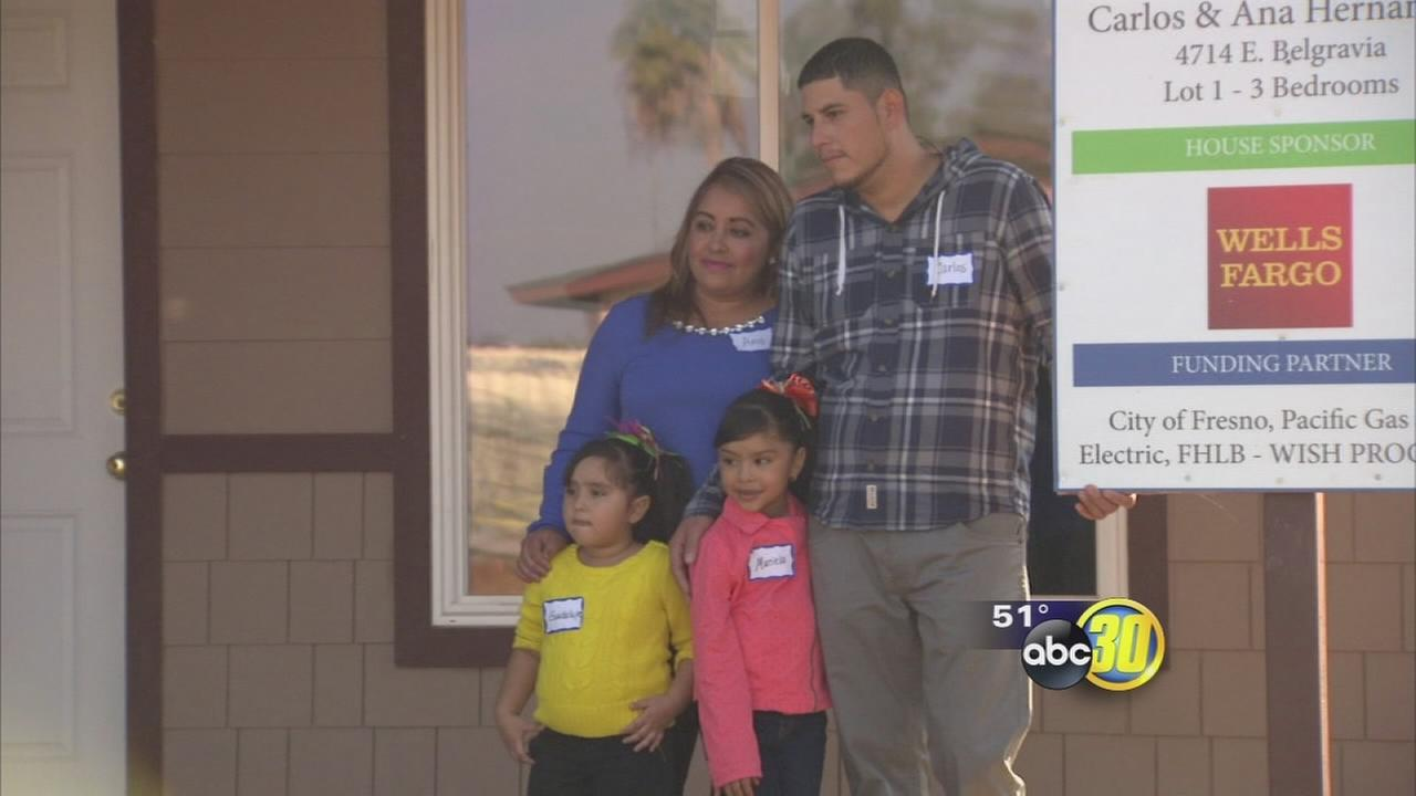 A Fresno family is gifted a new home, just in time for Thanksgiving