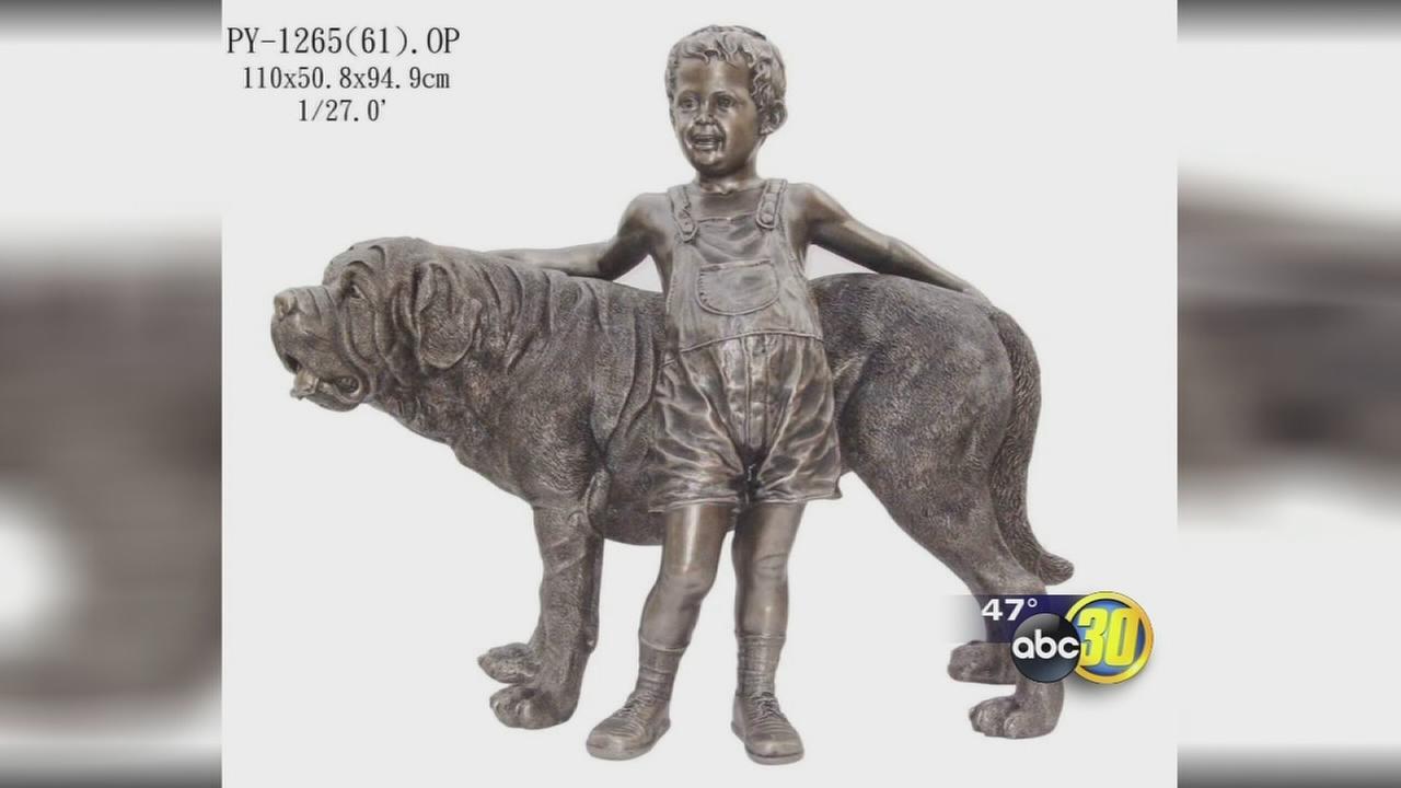 Statue stolen from Oakhurst Veterinary Hospital