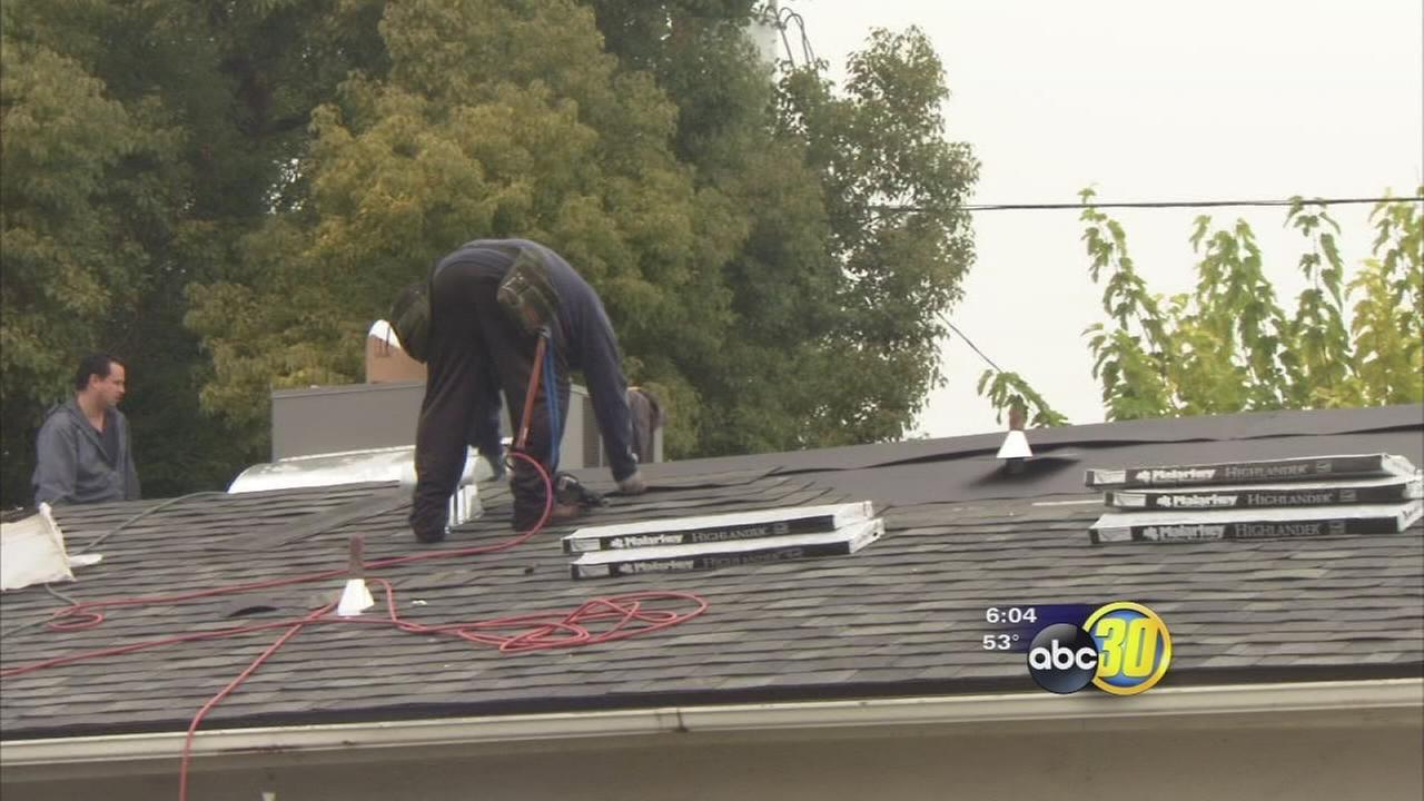 Increasingly wet weather has roofing companies work hard to meet demands
