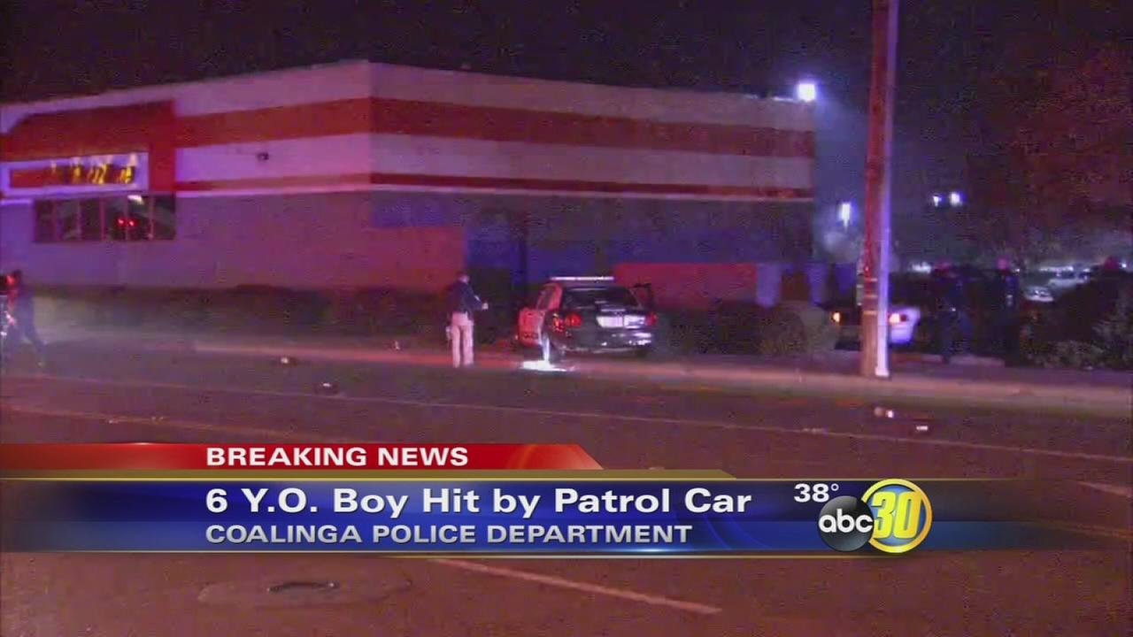 Coalinga PD hits 6-year-old boy while responding to a call