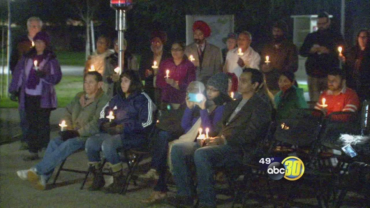 Members of Sikh community joined others in candlelight vigil for Dr. Martin Luther King Jr.