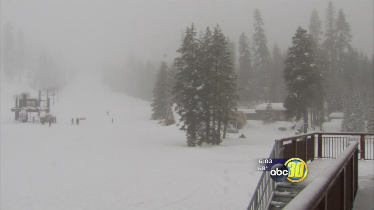 Badger Pass ski area gets rain and snow