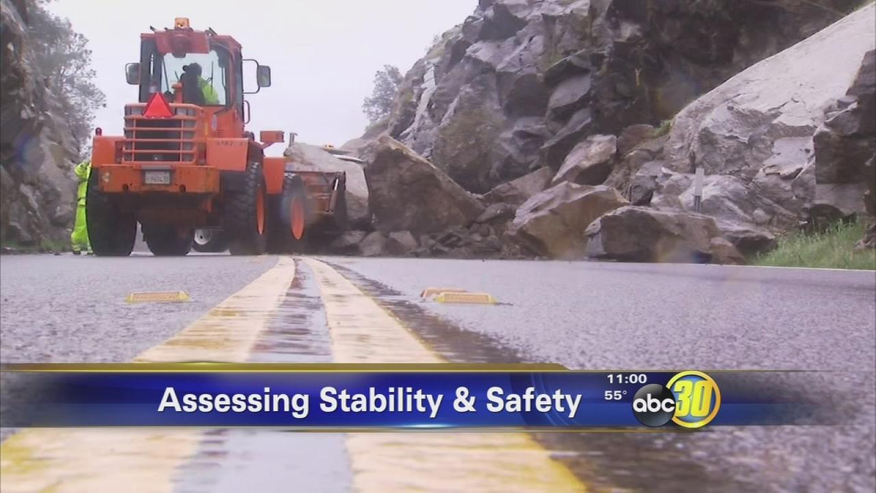 Highway 41 rockslide