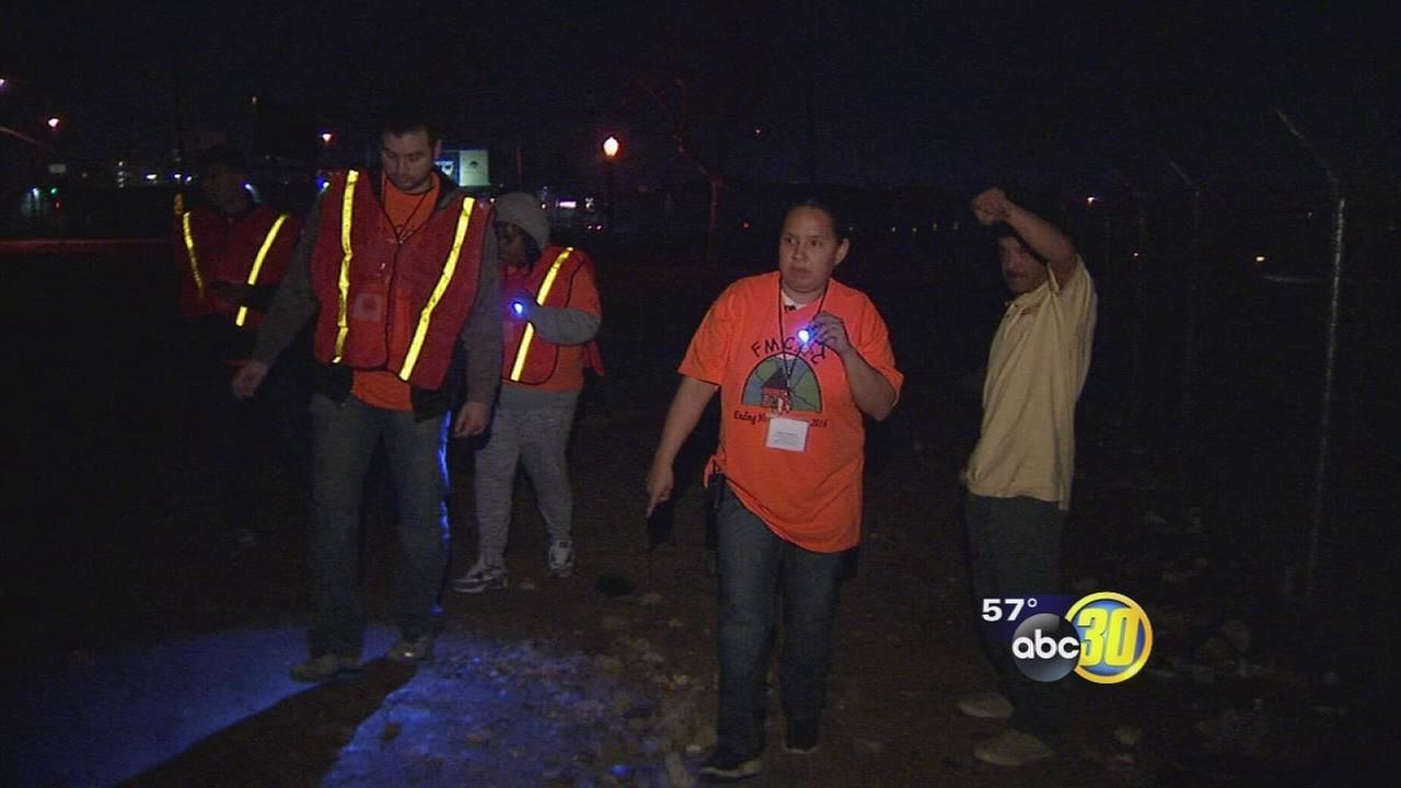 Volunteers searching for homeless in Fresno to get accurate headcount