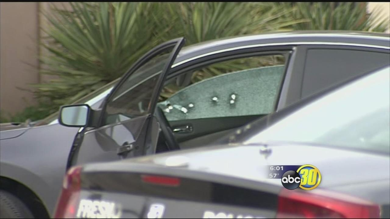 2 Fresno police cars hit by gunfire in officer involved shooting, police say