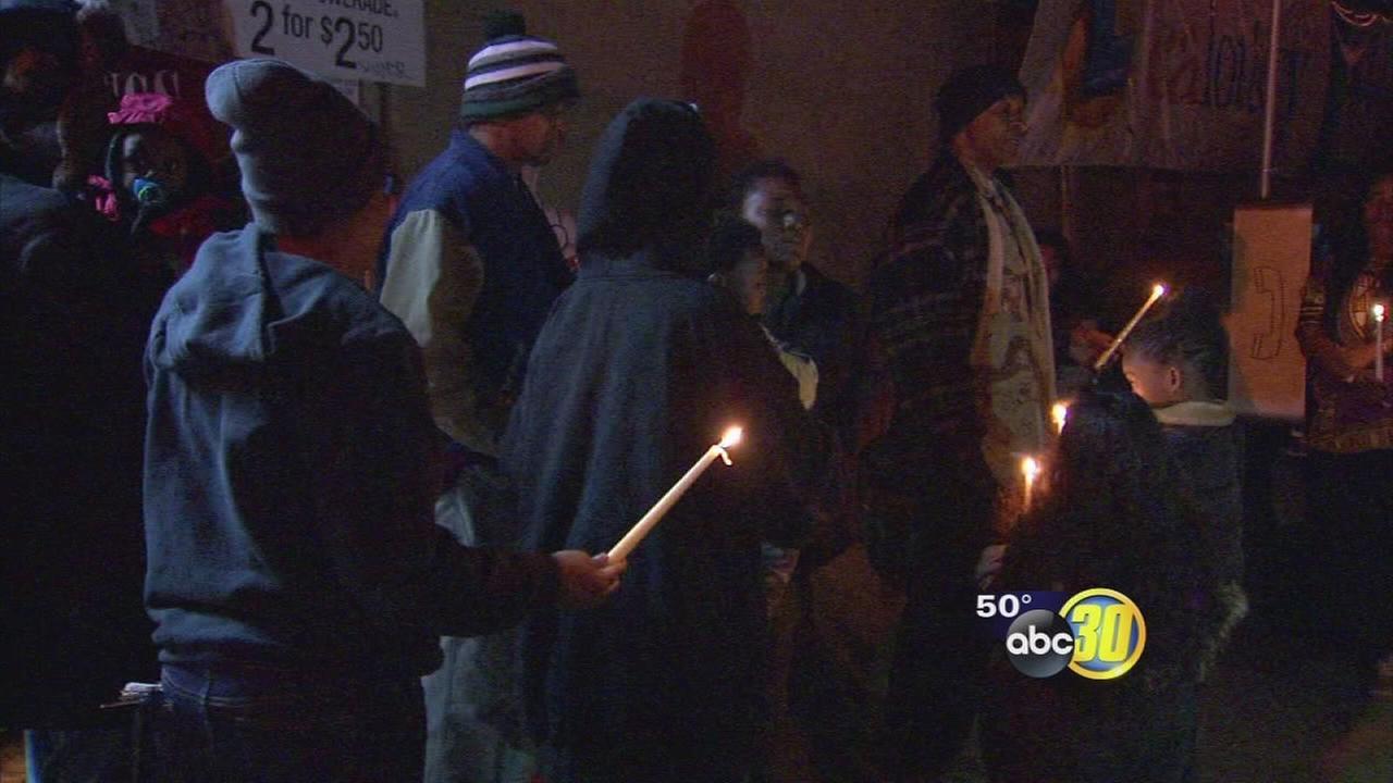 Vigil held for man shot and killed at Fresno Market
