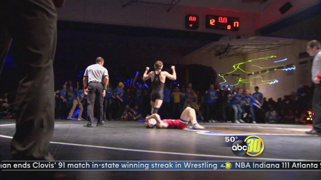 Buchanan Wrestling Ends Clovis? Amazing Streak