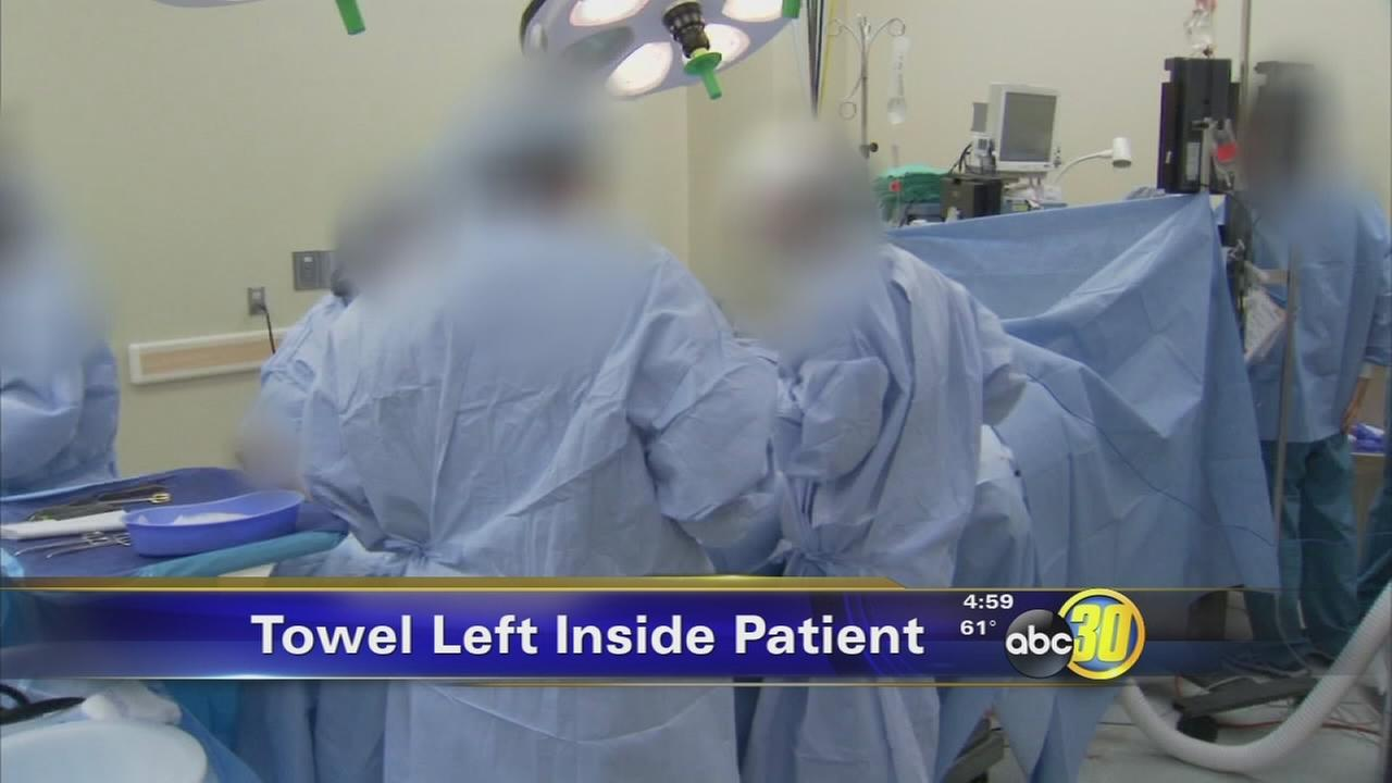 Fresno hospital fined after surgeon leaves towel inside patient