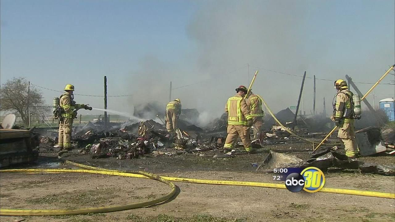 1 Person airlifted after residential fire in Merced County