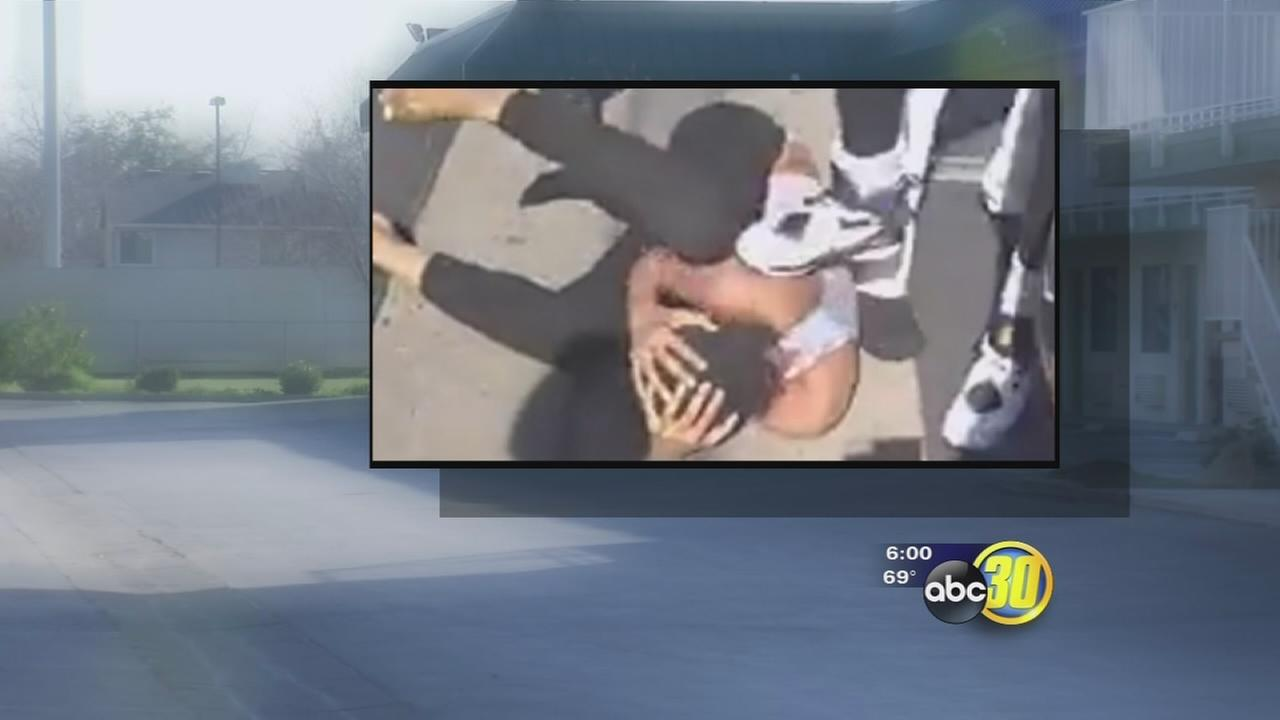 Video posted to social media of brutal attack on teenage girl in Fresno