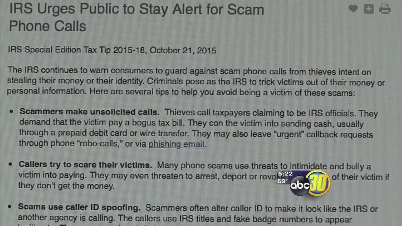 IRS warning public about new scam using scare tactics to get your money
