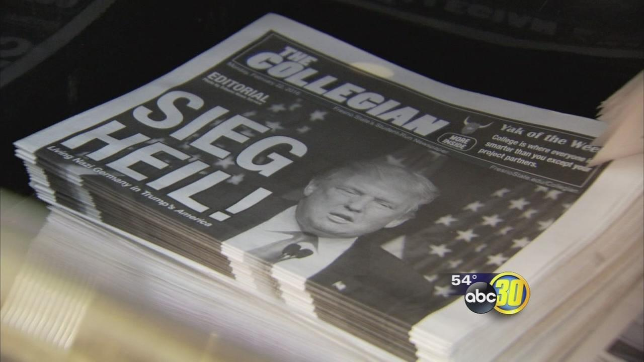 Fresno State student newspaper editorial compares Trump to Hitler