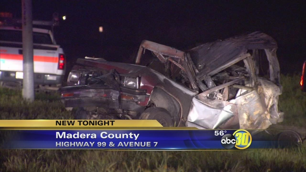 2 injured in multi-vehicle crash on Highway 99 near Madera