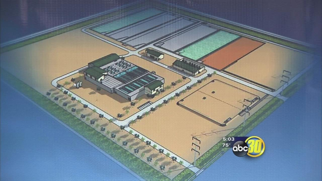 Construction on a new water treatment plant in Southeast Fresno begins
