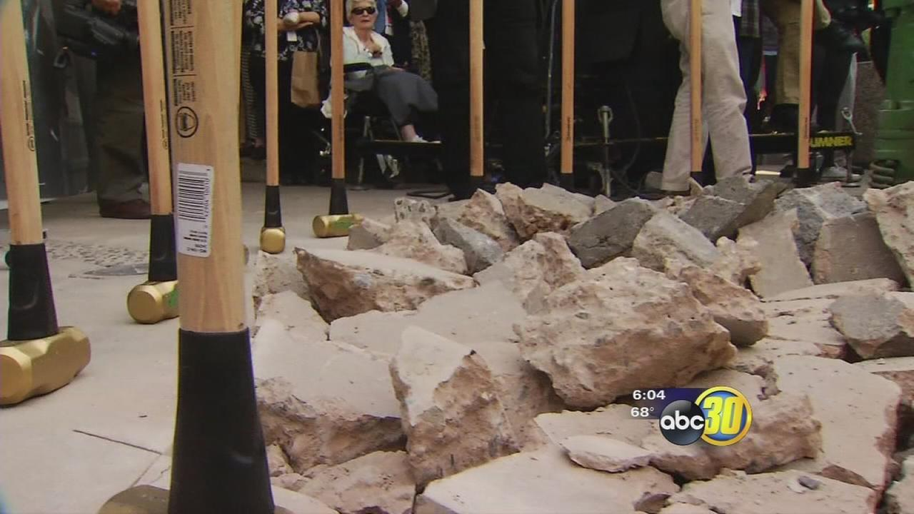Historic day for downtown Fresno as city breaks ground at Fulton Mall