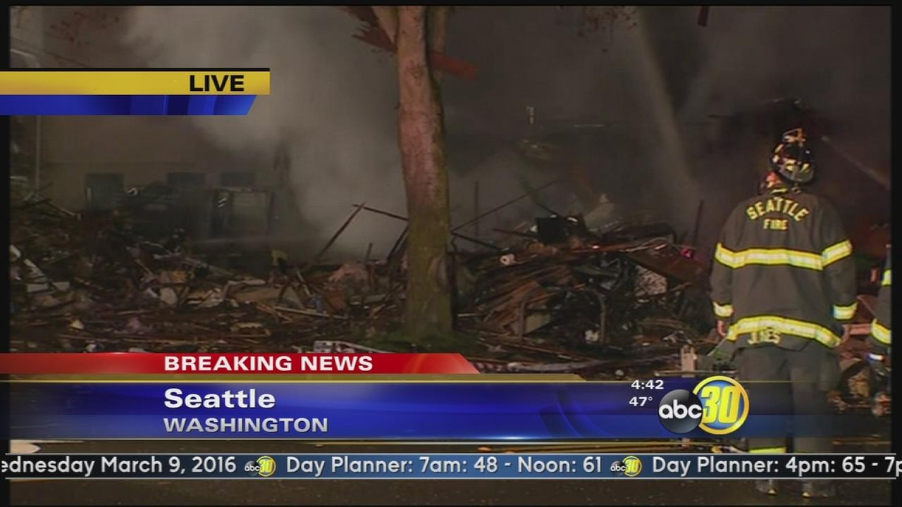 9 firefighters hurt in Seattle blast, residents evacuated