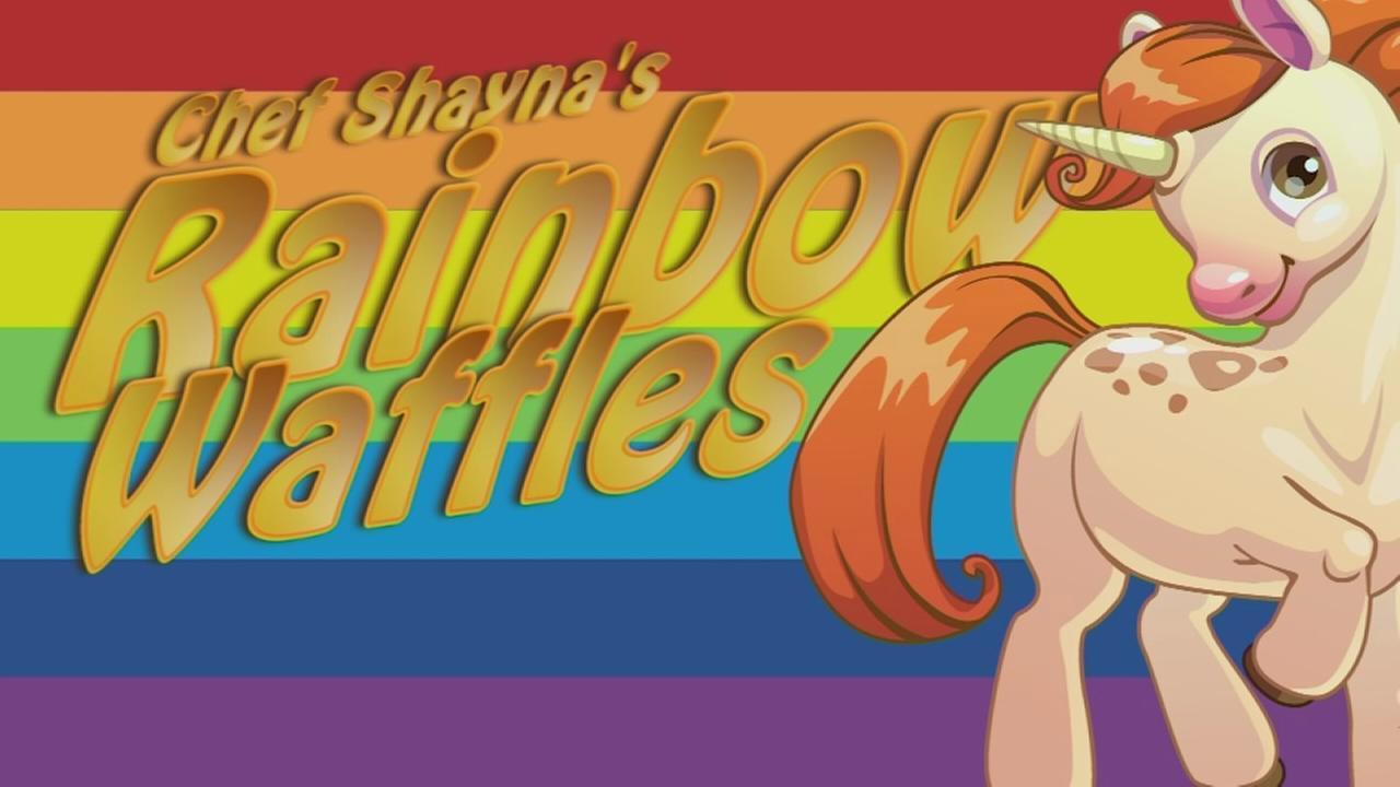 Rainbow Waffles Recipe