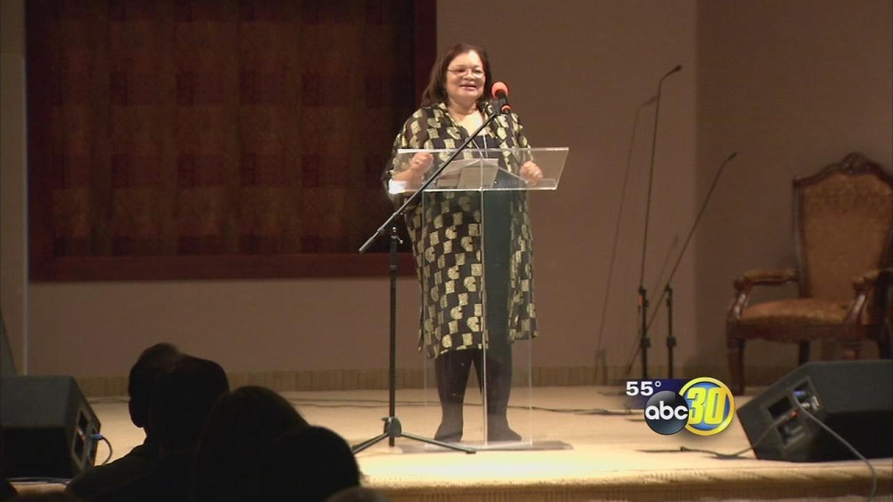 The niece of Dr. Martin Luther King Jr. speaks at fundraiser at Fresno church