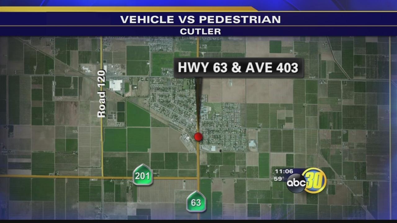 Pedestrian hit by vehicle in Cutler