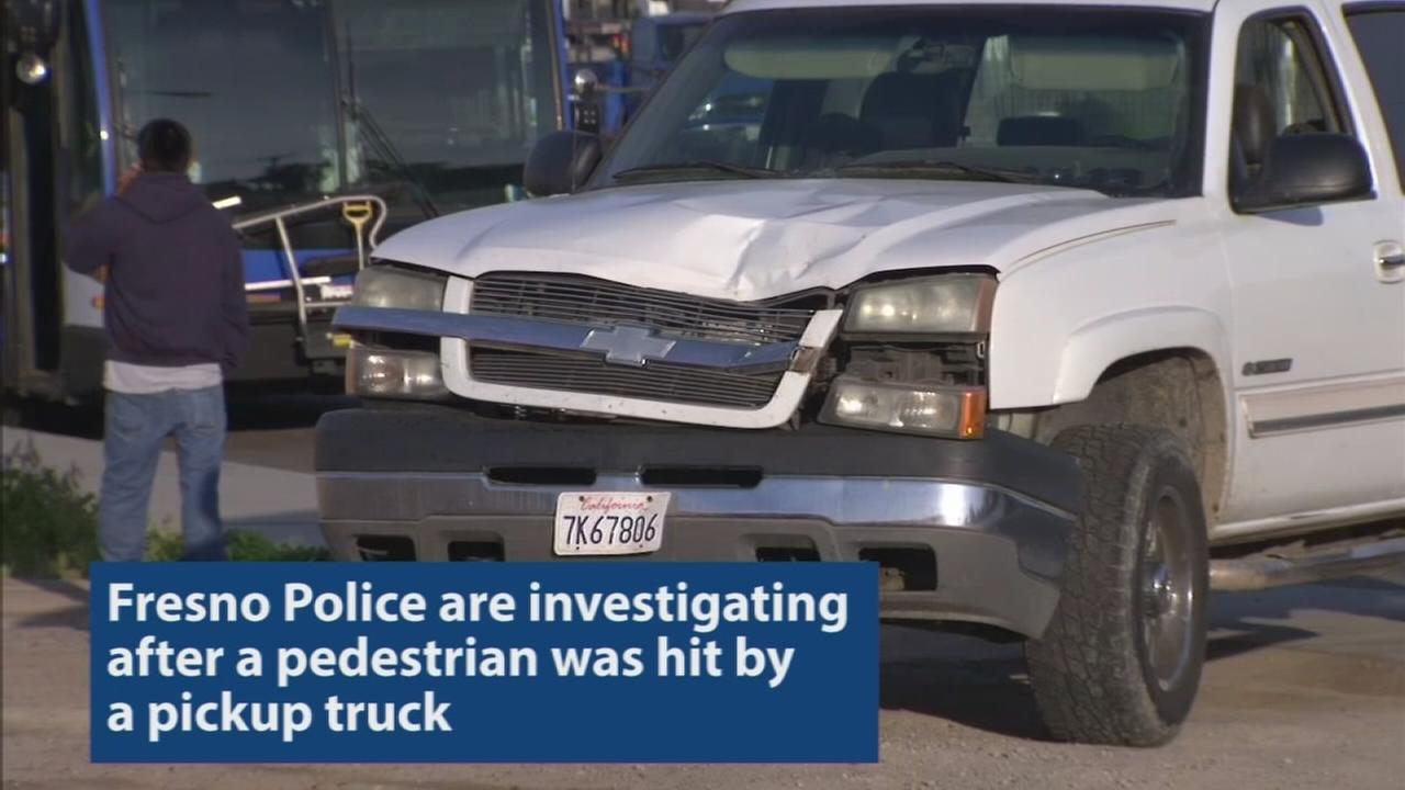 Person hit by truck in West Central Fresno