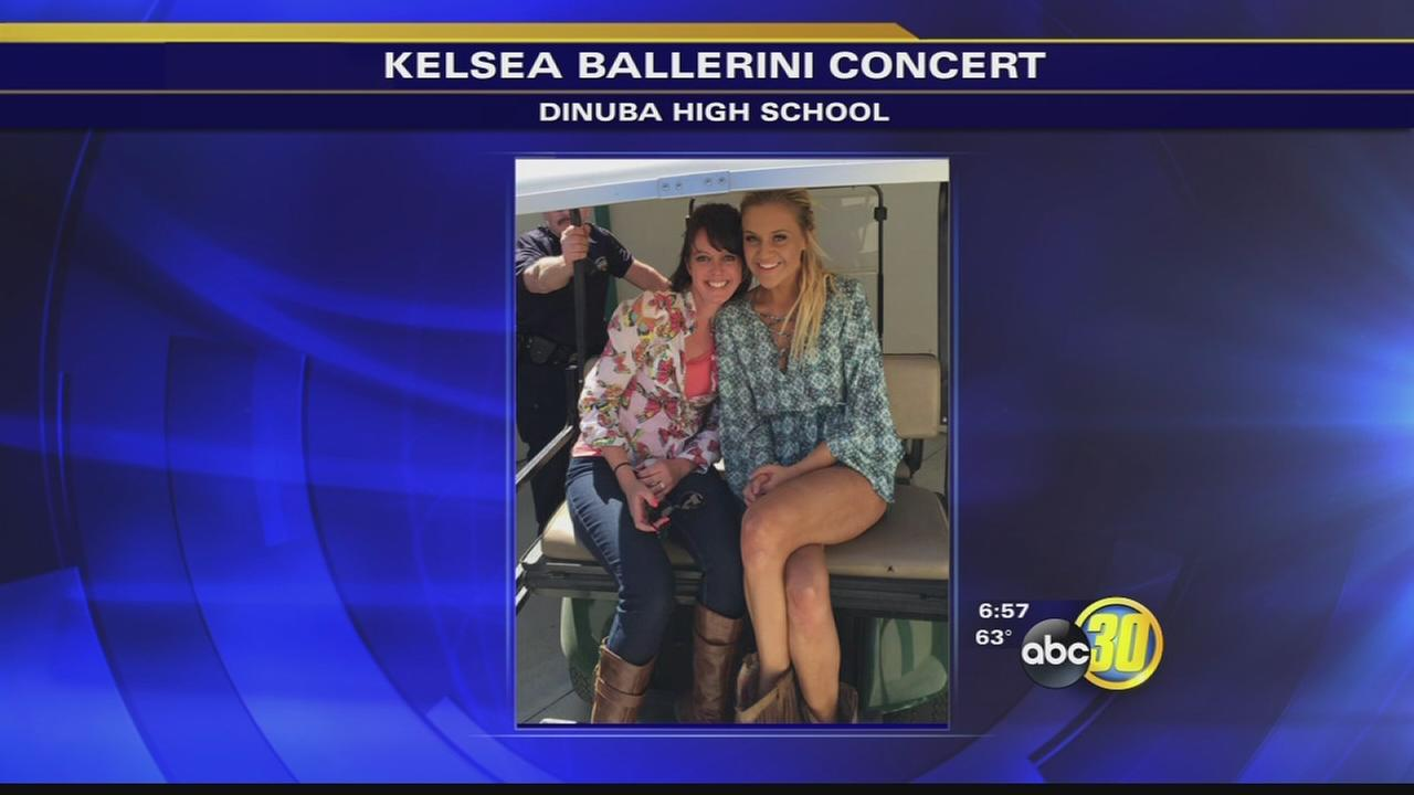 Kelsea Ballerini performs at Dinuba High School