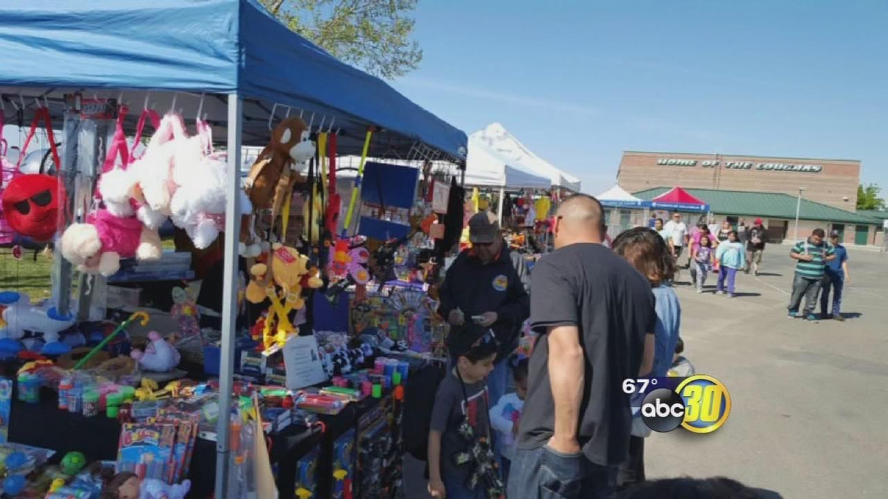 Kid celebrate kite festival in Merced County