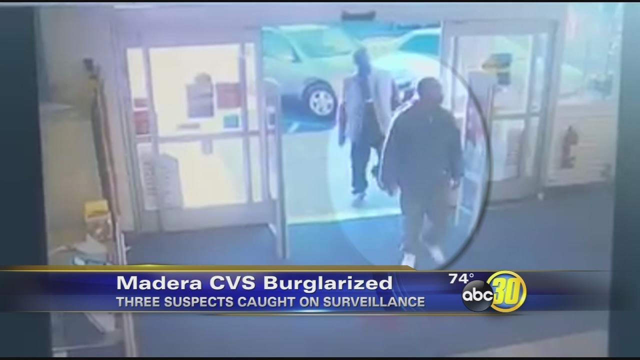 Madera police looking for 3 suspects after they stole several bottles of alcohol from a CVS