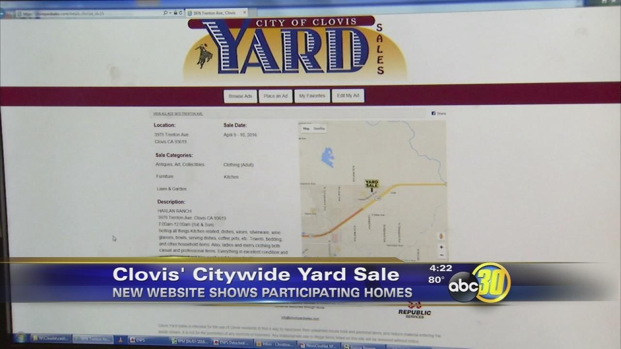 City of Clovis sets up website for city wide yard sale