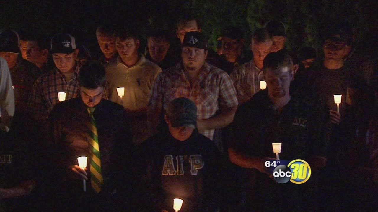 Vigil held at Fresno State for student killed in dirt bike accident on campus farm