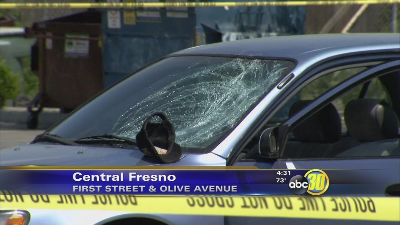 Man injured after walking in front of a car in Central Fresno