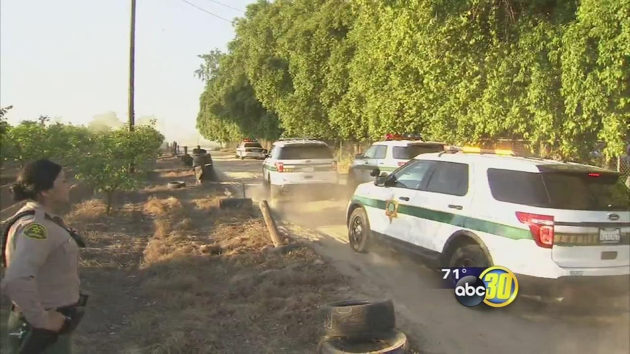 No one hurt after police standoff in Sanger