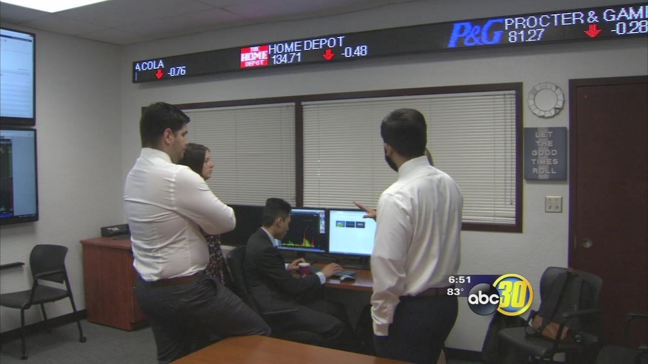 Fresno State unveiled new student run stock trading room