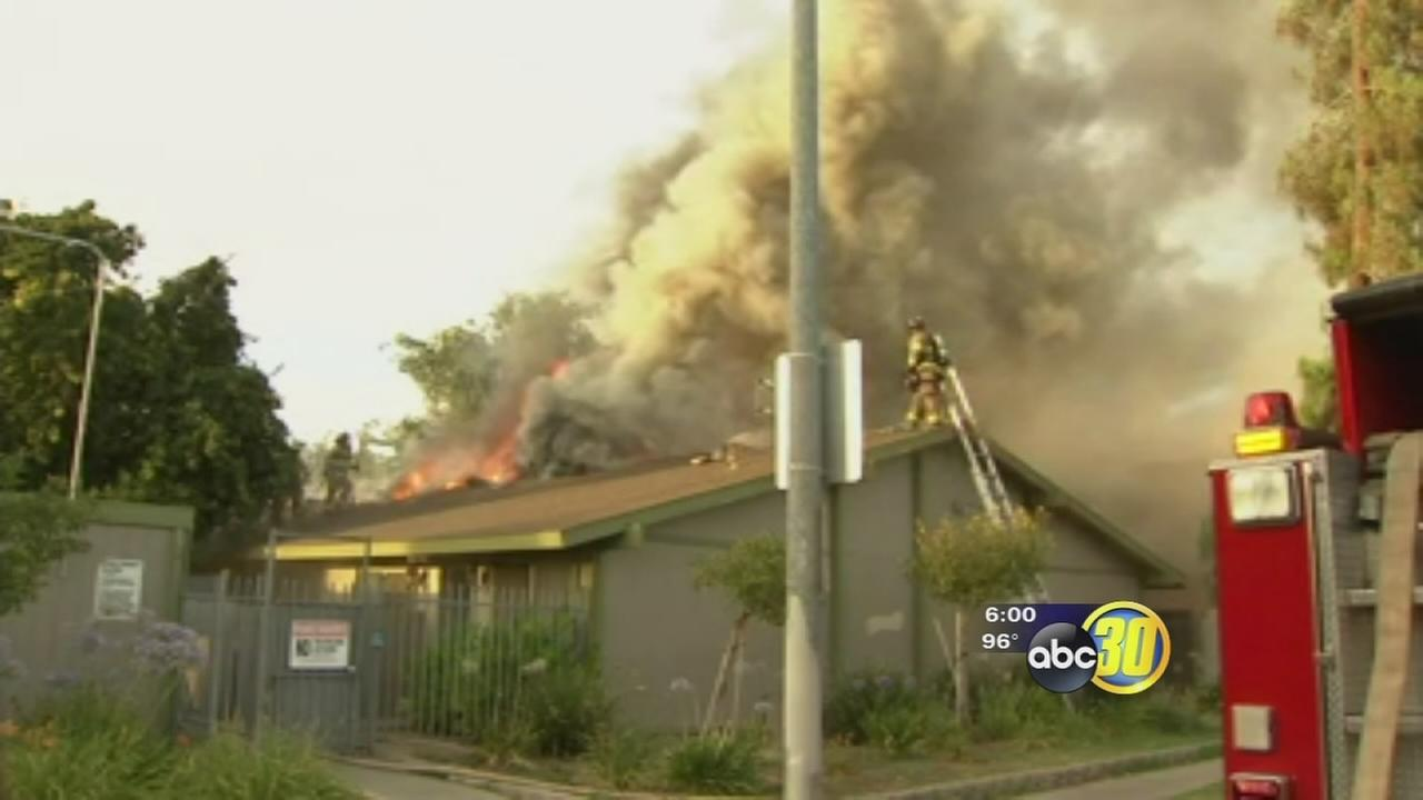 Firefighters: Cigarette butt sparks blaze at Fresno apartment