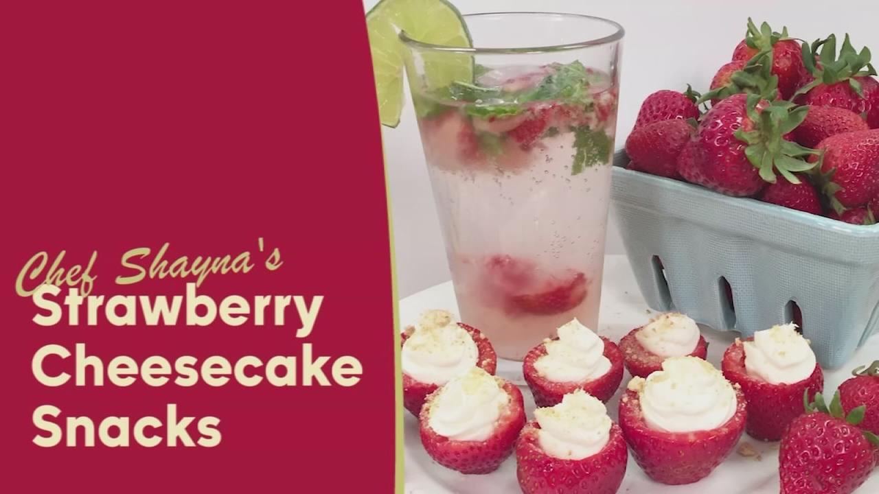 Strawberry Cheesecake Snacks