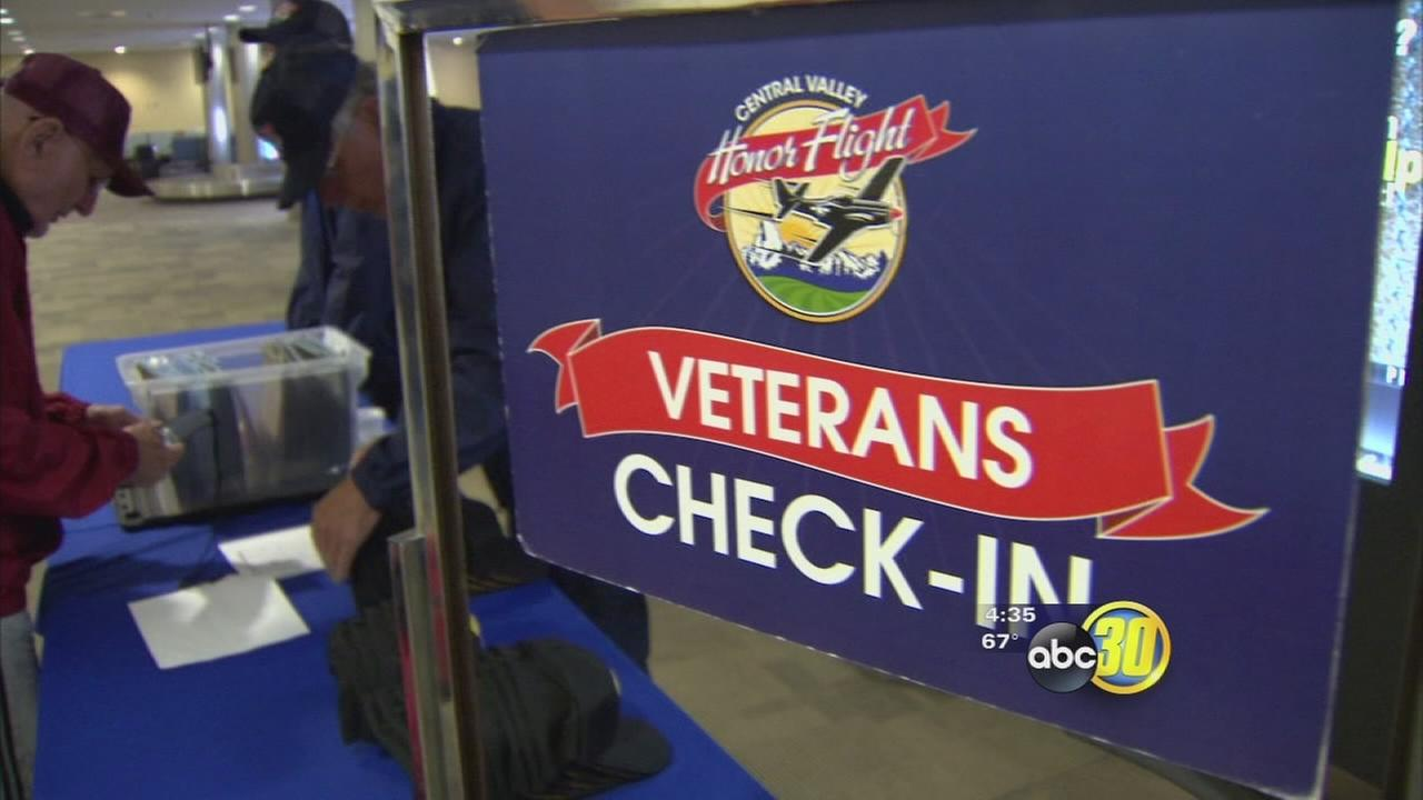 Valley vets head to DC for 9th Central Valley Honor Flight