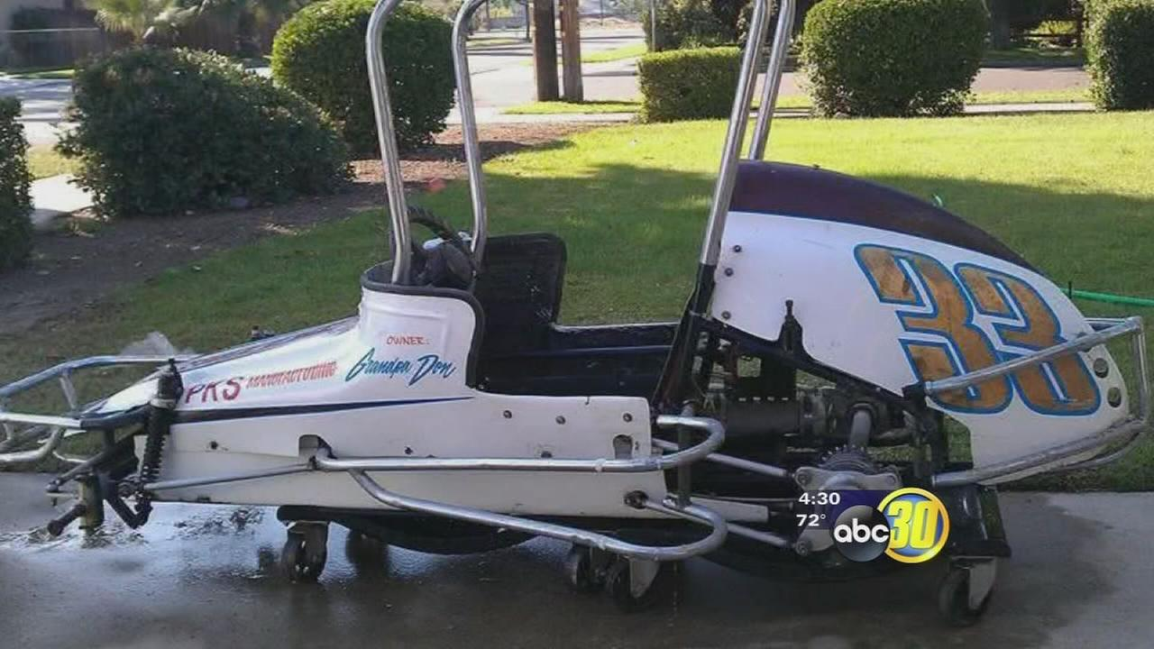 Man has priceless race car stolen from storage unit in Fresno