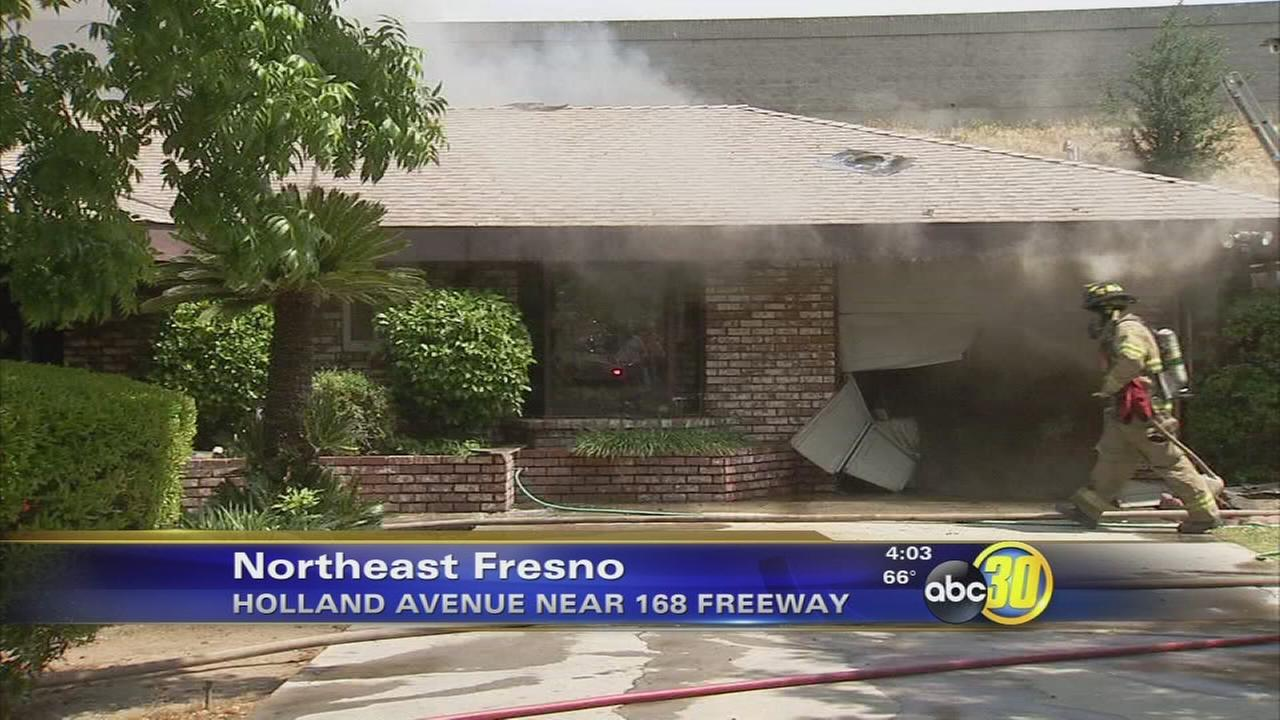 2-alarm house fire in Northeast Fresno