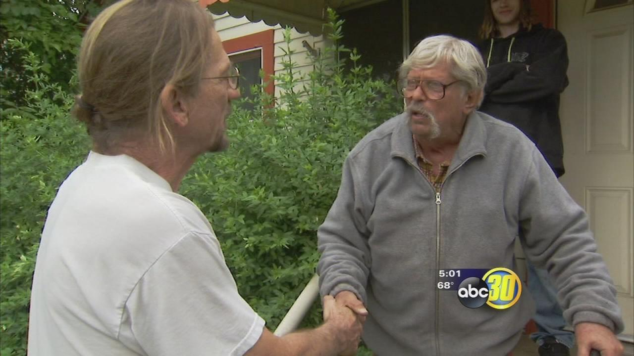 Elderly man who fought off home invaders was given a helping hand to keep him safe