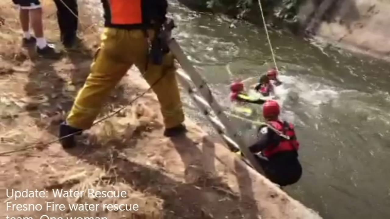 Woman rescued from canal in Central Fresno