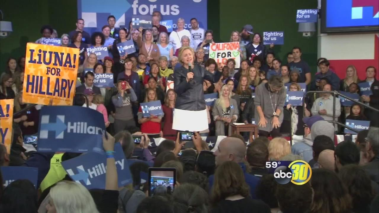 Hillary Clinton speaks to enthused crowd