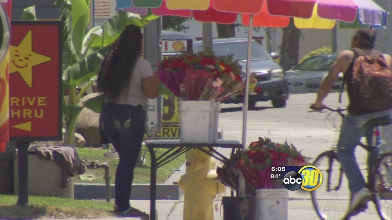 Valley florists frustrated by sidewalk vendors