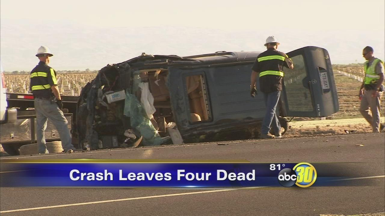 Four people killed in fatal Fresno County DUI crash
